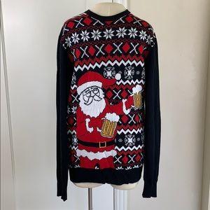 Beer Santa ugly Christmas sweater 🍺